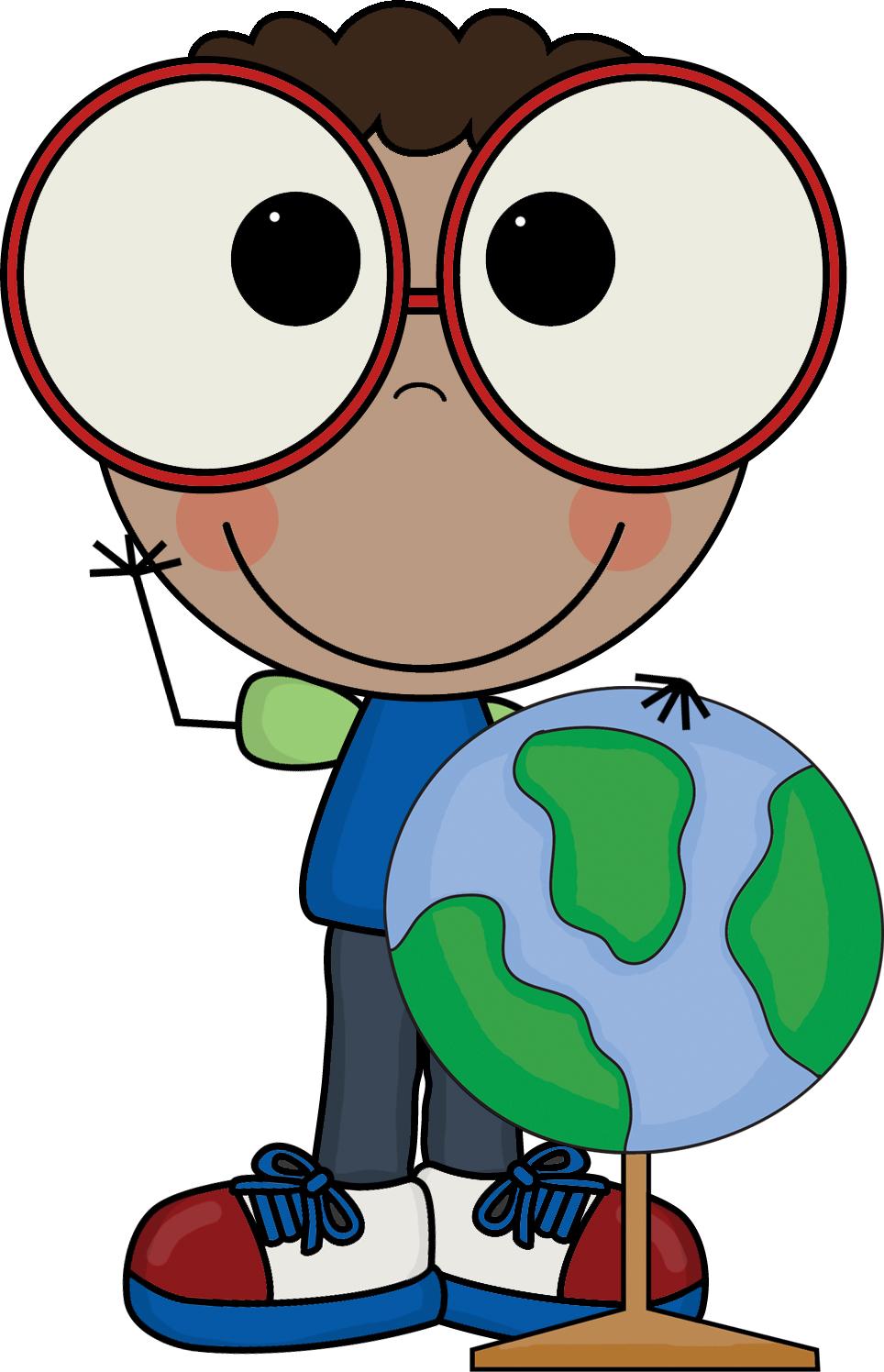 Smarty Pants Clip Art Boy With Globe Social Studies
