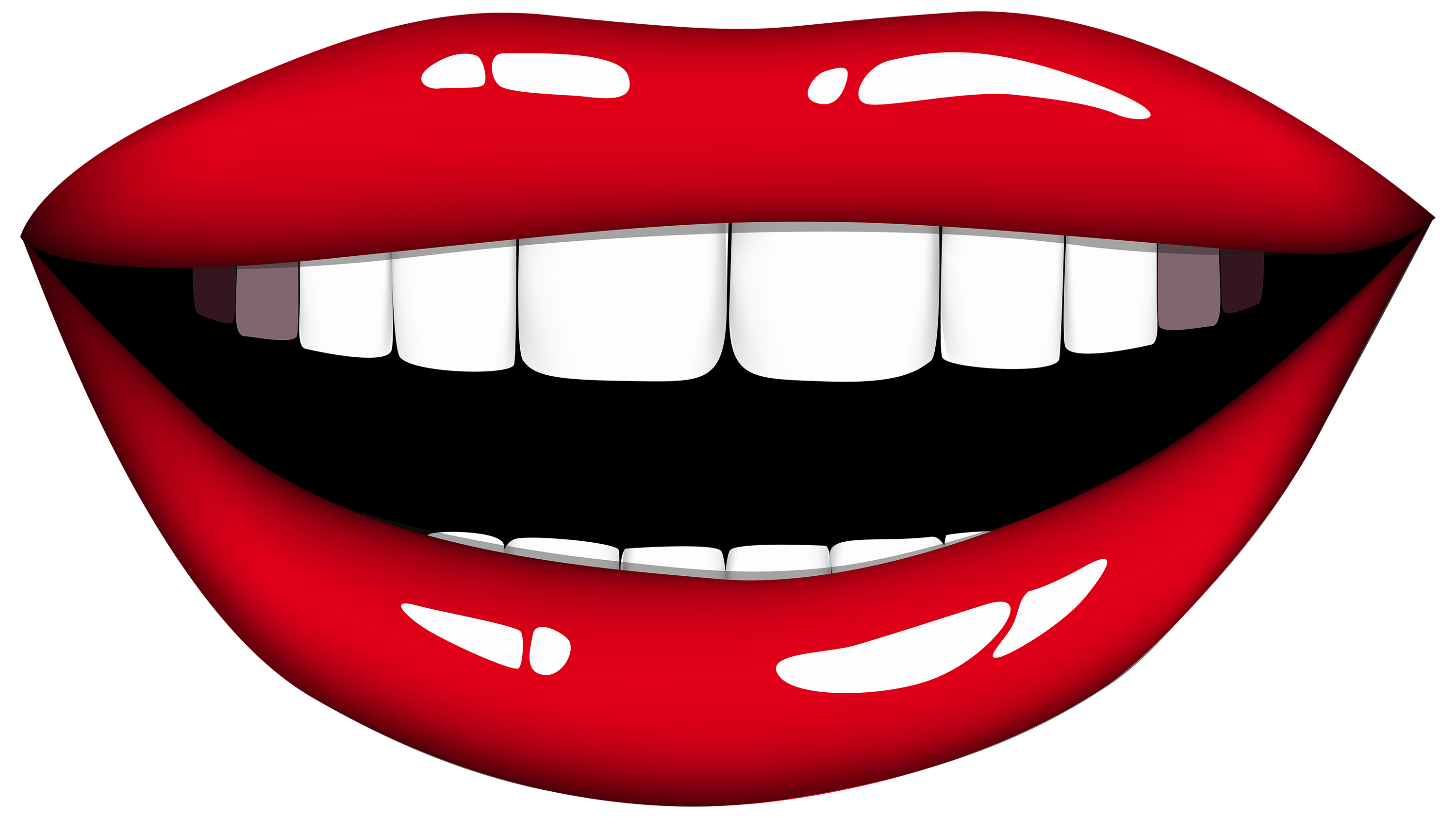 Smile mouth clipart black and - Clipart Mouth