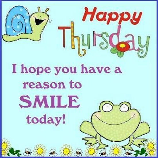 Smile Today Happy Thursday Clipart