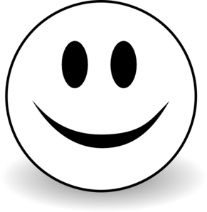 smiley face star clipart black and white
