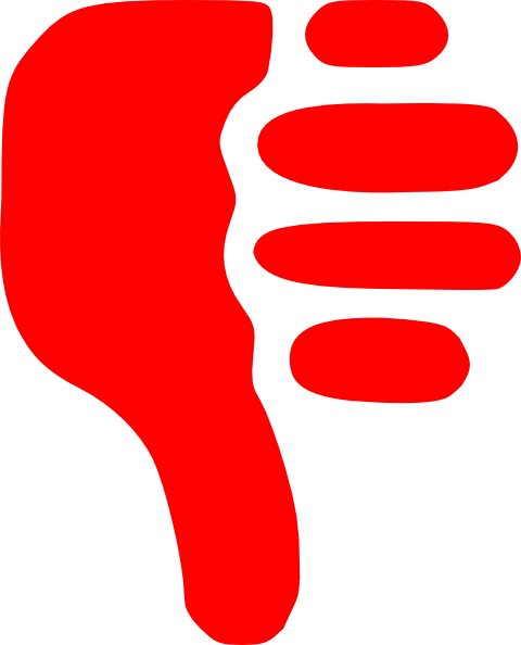 smiley face thumbs down clipart