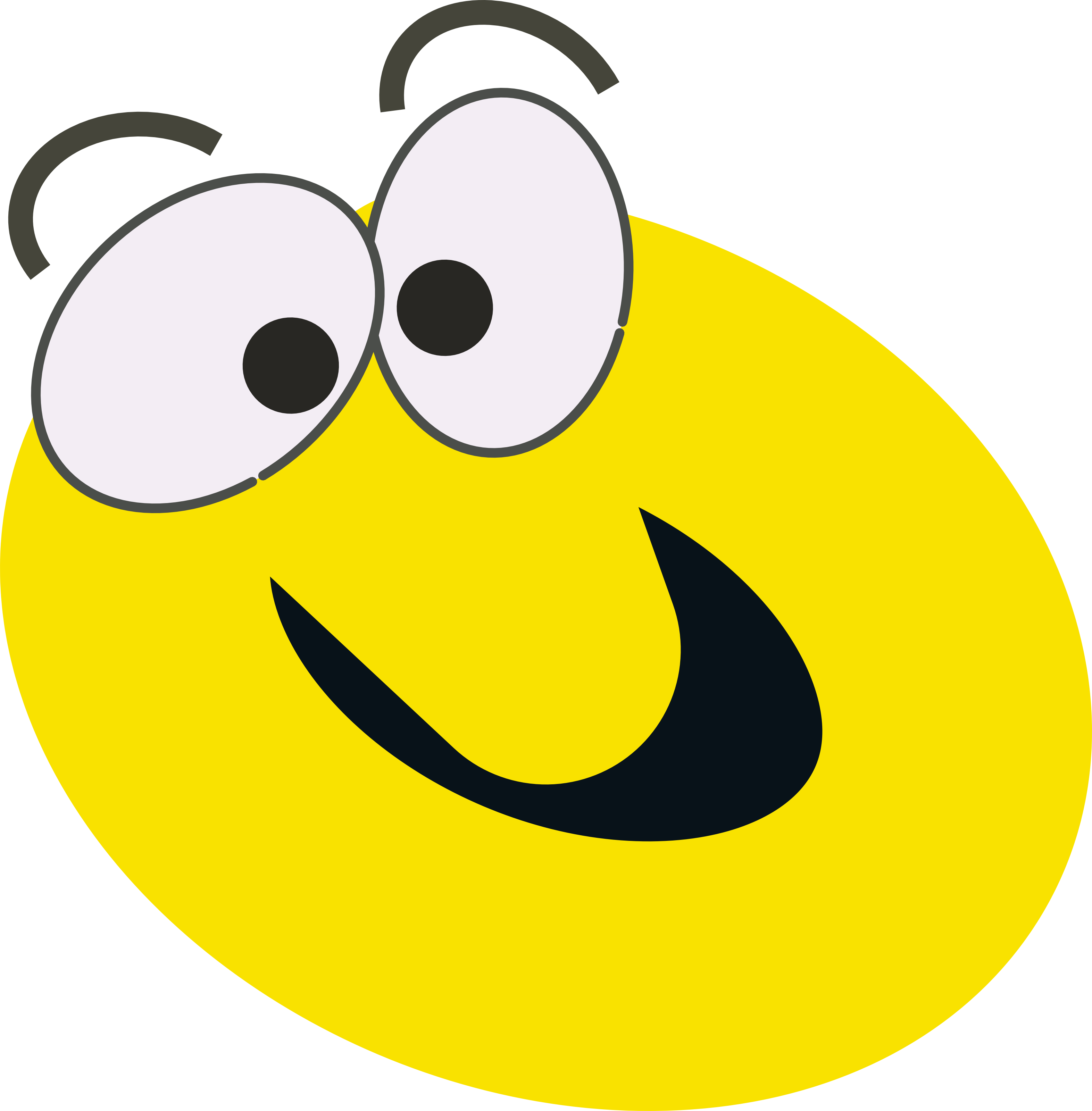 Smiley face clip art animated .