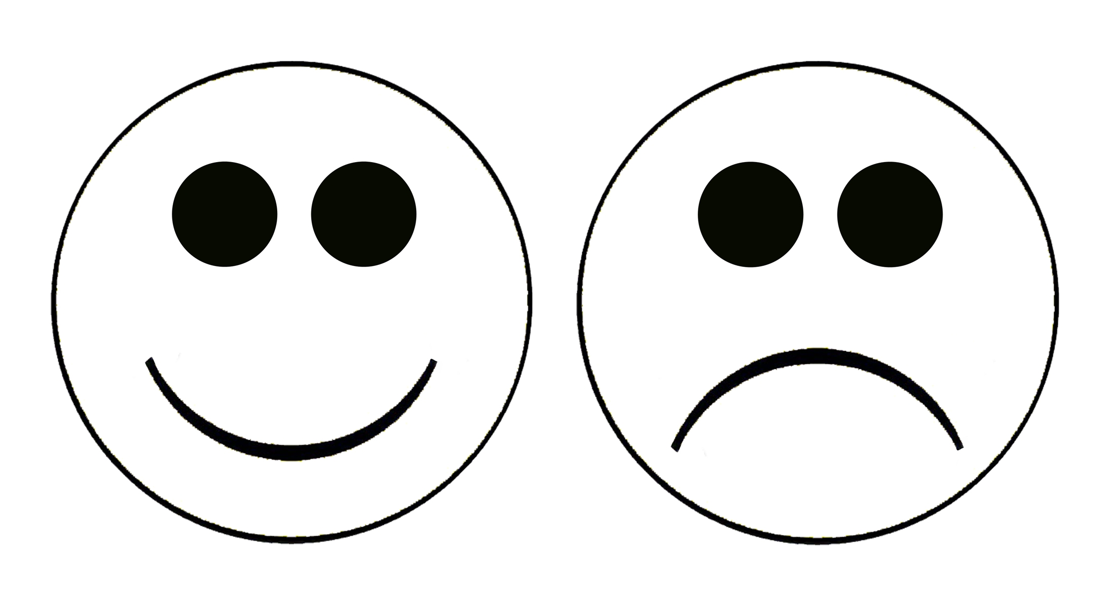 Smiley face sad face clipart