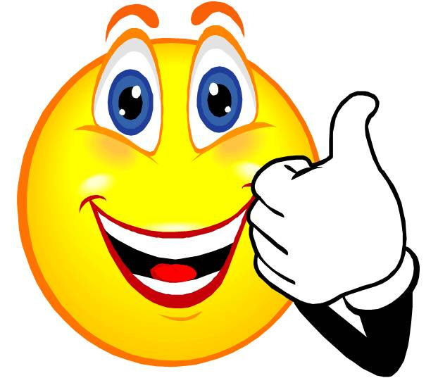 Smiley face thumbs up thank you free clipart images