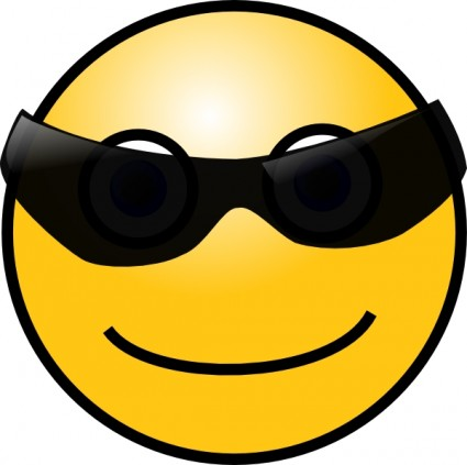 Smiley Face With Glasses Clip Art Vector-Smiley Face With Glasses clip art Vector clip art - Free vector-19