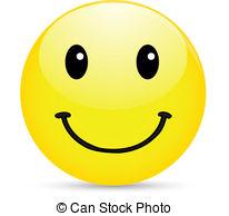 Smiley icon on white .