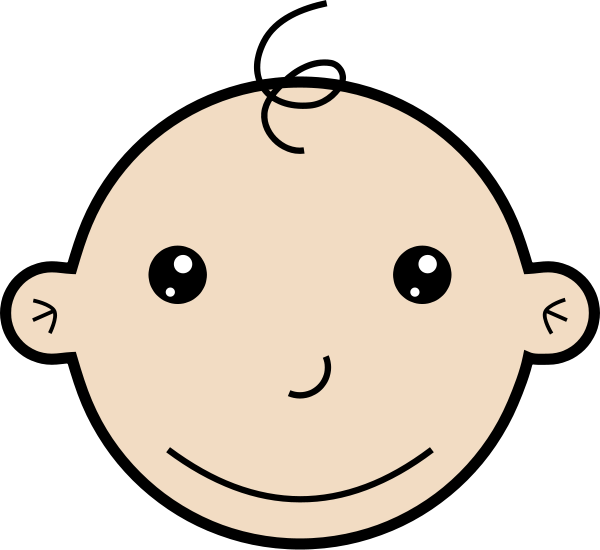 Smiling Baby Clipart, Vector Clip Art On-Smiling baby Clipart, vector clip art online, royalty free design-15
