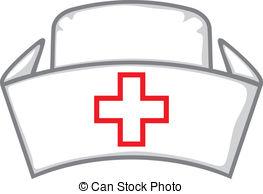 Smiling Nurse Clip Artby StellarStock8/580; nurse cap, medical white hat, nurseu0026#39;s hat