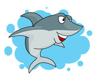 smiling shark clipart. Size: 54 Kb