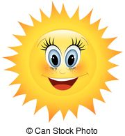 Smiling sun Vectorby ...
