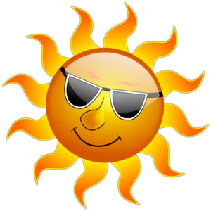 Smiling sun with glasses. on Pinterest | Clip art, .