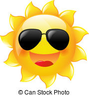 ... Smiling Sun With Gradient Mesh, Vector Illustration