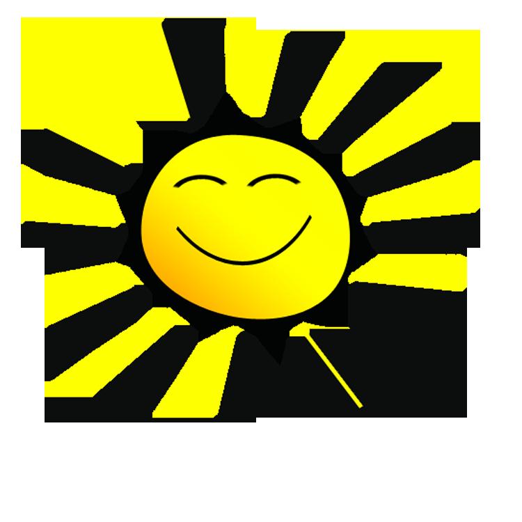 Smiling sunshine clipart