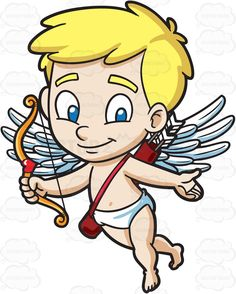 A delighted Cupid #cartoon #clipart #vector #vectortoons #stockimage  #stockart #art