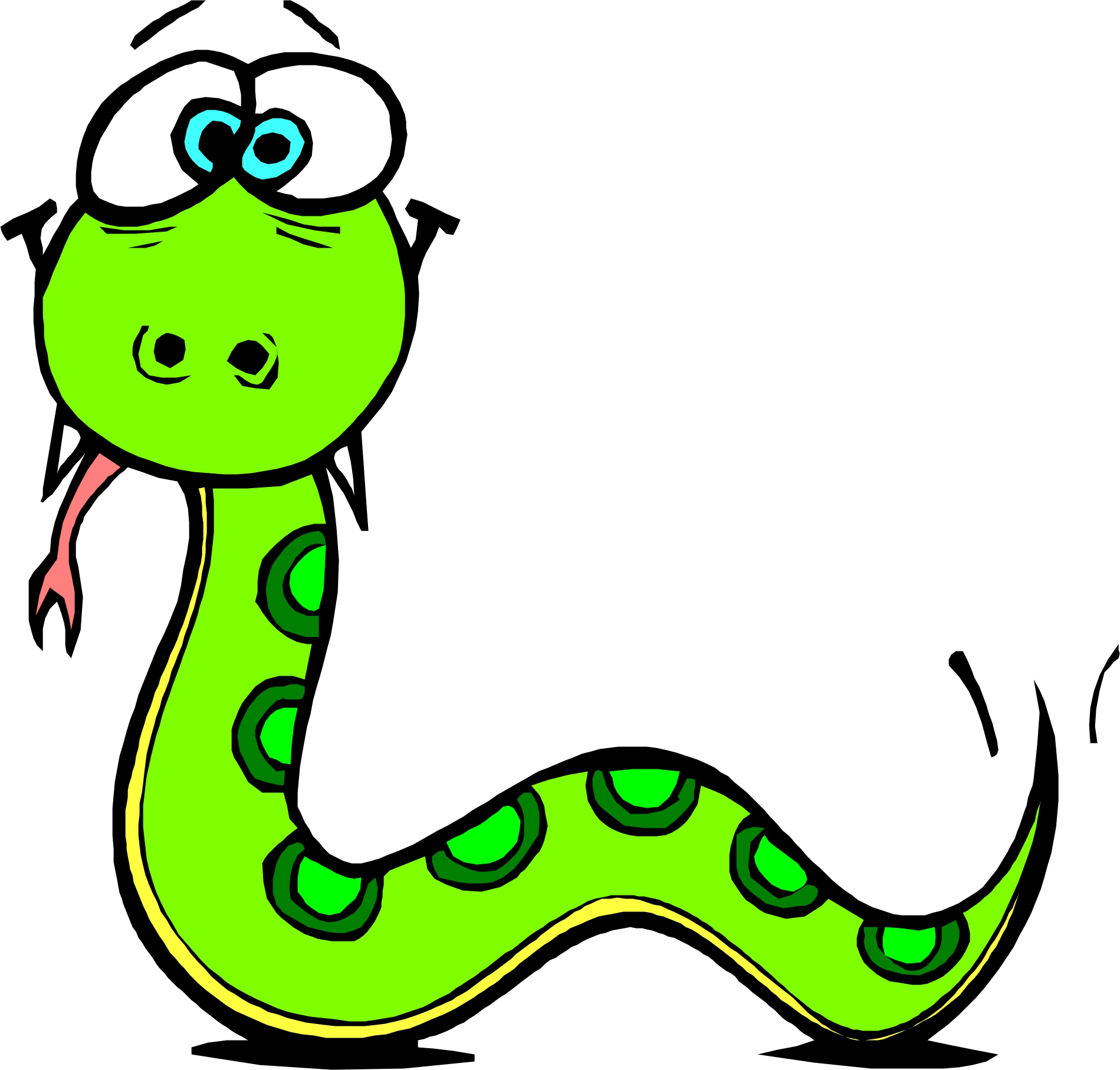 Snake clipart free images 2