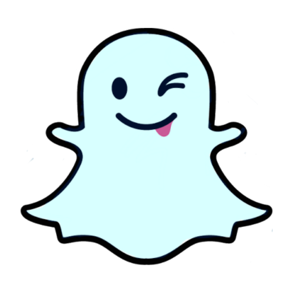 blue ghost snapchat sc icon overlay sticker tumblr usei.