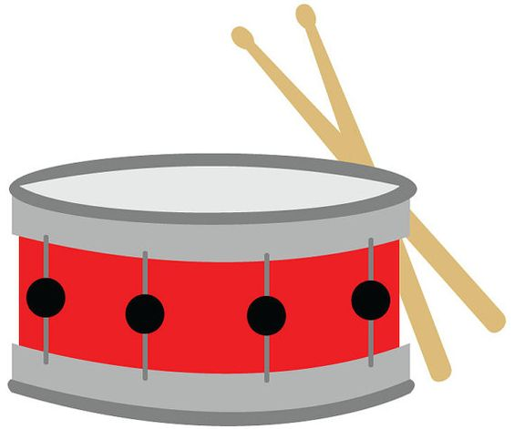 Snare Drum Clip Art Red With Drumsticks -Snare drum clip art red with drumsticks vector-11
