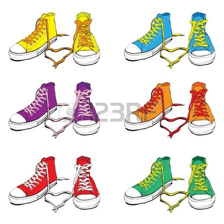 Sneakers: Different Colors Sneakers With-sneakers: Different Colors Sneakers With Lovely Heart-14