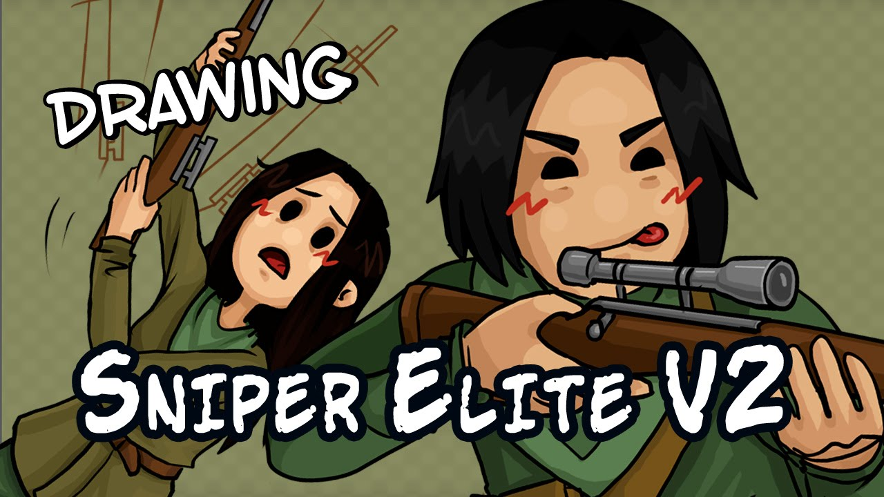 Drawing Sniper Elite V2 with commentary!-Drawing Sniper Elite V2 with commentary!-14