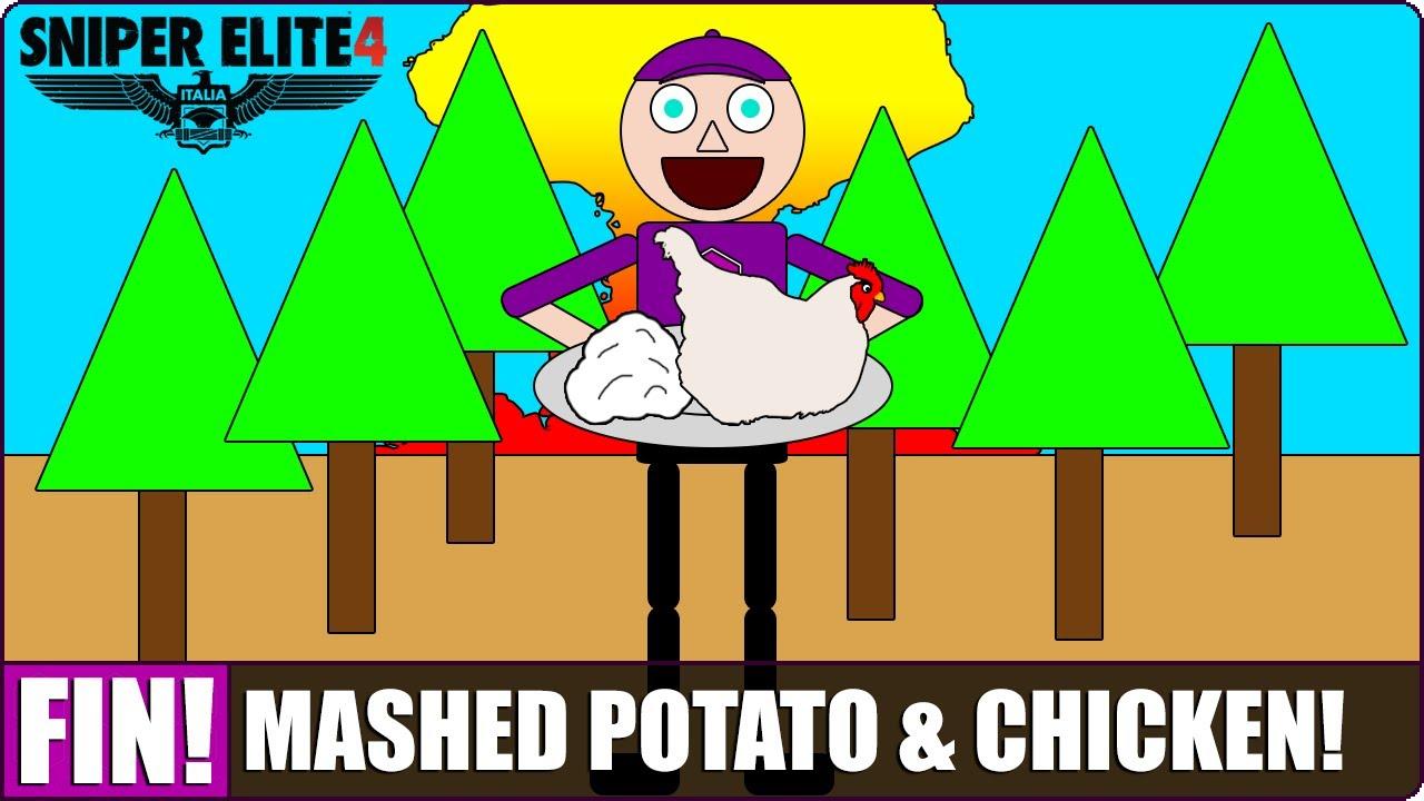 MASHED POTATO U0026 CHICKEN! | Deathstor-MASHED POTATO u0026 CHICKEN! | Deathstorm 3: Obliteration DLC - Finale! [SNIPER  ELITE 4]-4