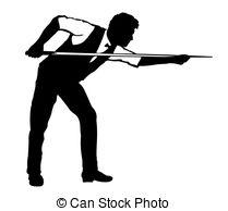 snooker players Vector Clipartby jameschipper5/766 Billiards Player -  silhouette of billiards player.Black.