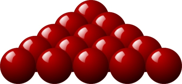 Stellaris Red Snooker Balls clip art
