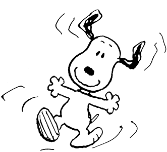 Snoopy Monday Clipart #1 .