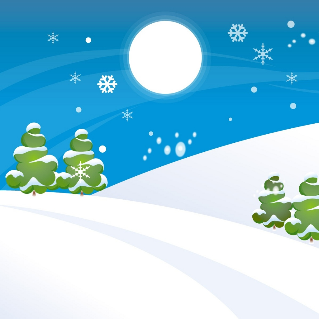 Snow Background Clipart