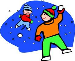 Snow Ball Fight Clipart