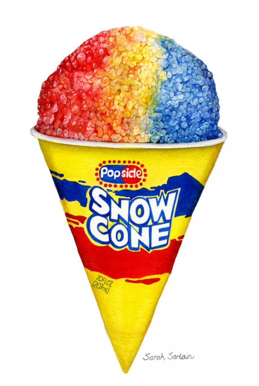 Snow Cone Clip Art
