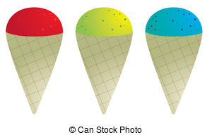 ... Snow Cones In Red Green And Blue Iso-... Snow cones in red green and blue isolated on white Snow cone Clip Artby ...-18