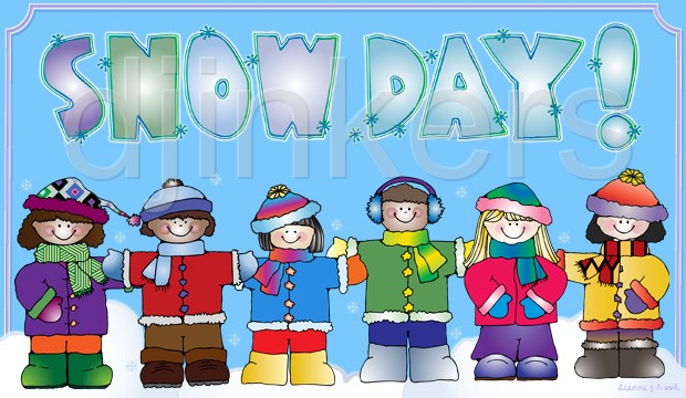 snow day kids winter clip art - Snow Day Clip Art
