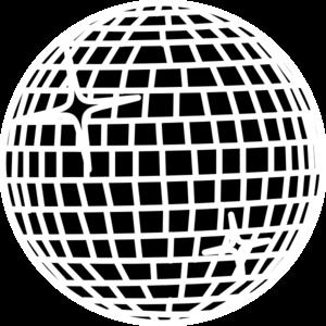 Snow Disco Ball Schwarz Clip .