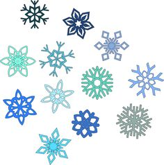 Snow Flakes Clip Art | Clipart - Snowflakes