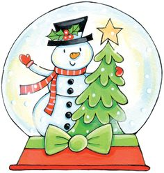 Snow Globe Animated Clip Art | Christmas Snow Globes Clip Art