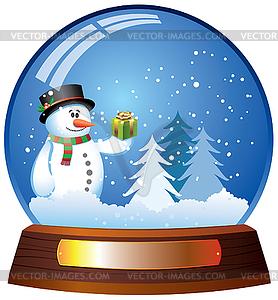 Snow globe - vector clipart