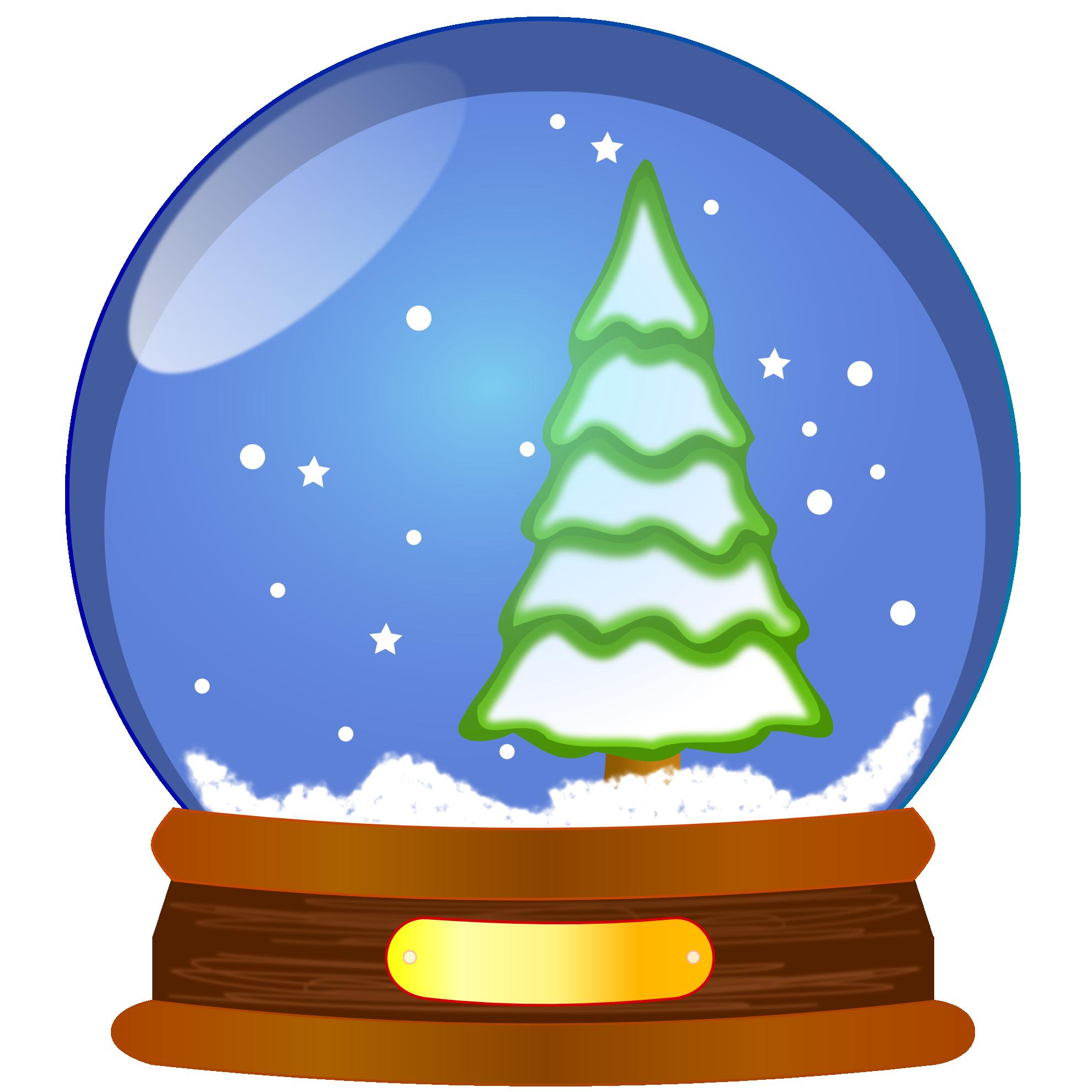 Snow Globe Xmas Tree Christmas .