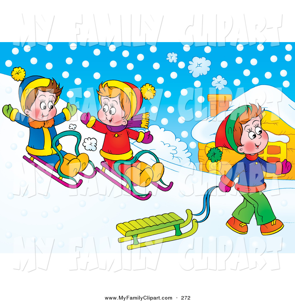 Snow Hill Background Clipart  - Snow Day Clip Art