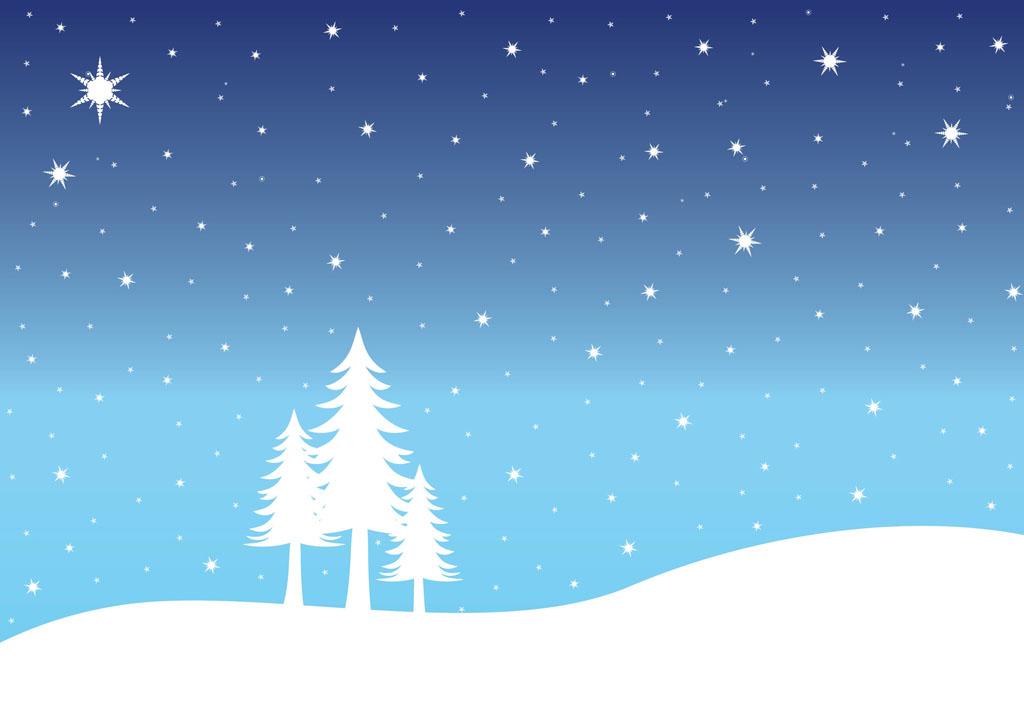 Snow Landscape Clipart - Snow Background Clipart