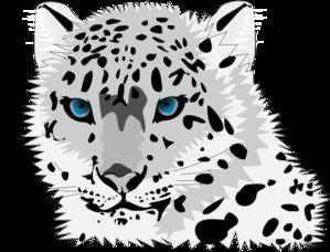 Snow Leopard Clip Art - Snow Leopard Clipart