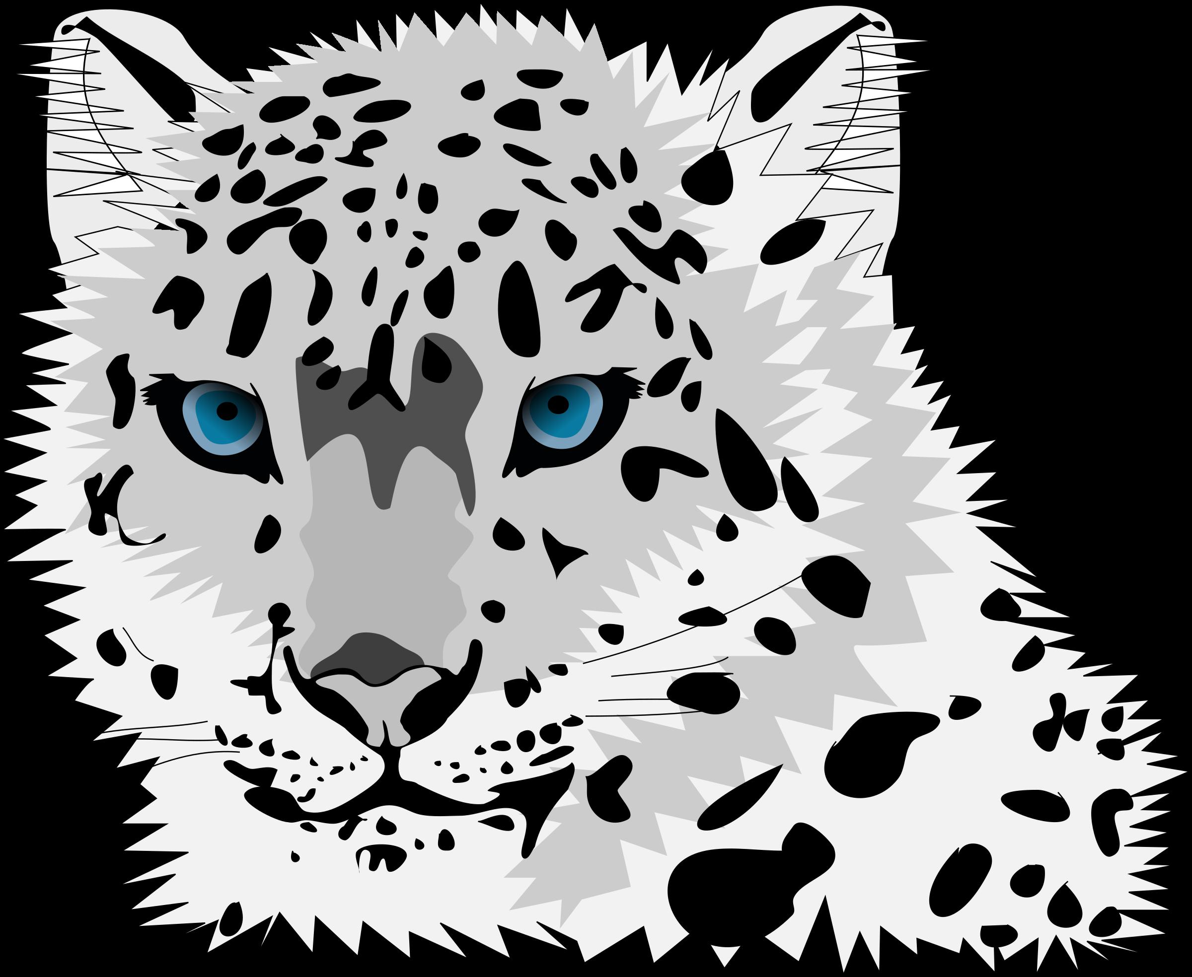 snow leopard - Snow Leopard Clipart