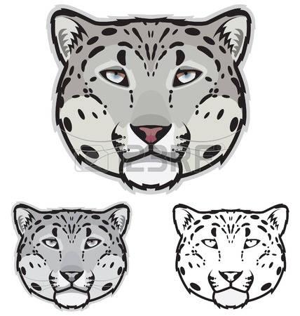 snow leopard: Snow Leopard Fa - Snow Leopard Clipart