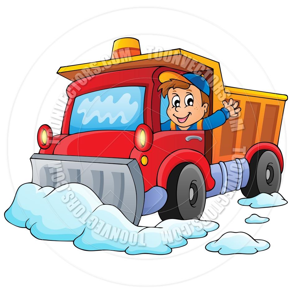 Snow Plow Truck Clip Art Cartoon Snow Plow Theme Image