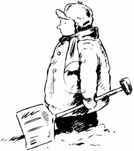 Snow Shovel - Royalty Free .-Snow Shovel - Royalty Free .-16