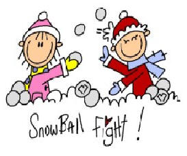 Snowball Fight Clip Art Book Covers