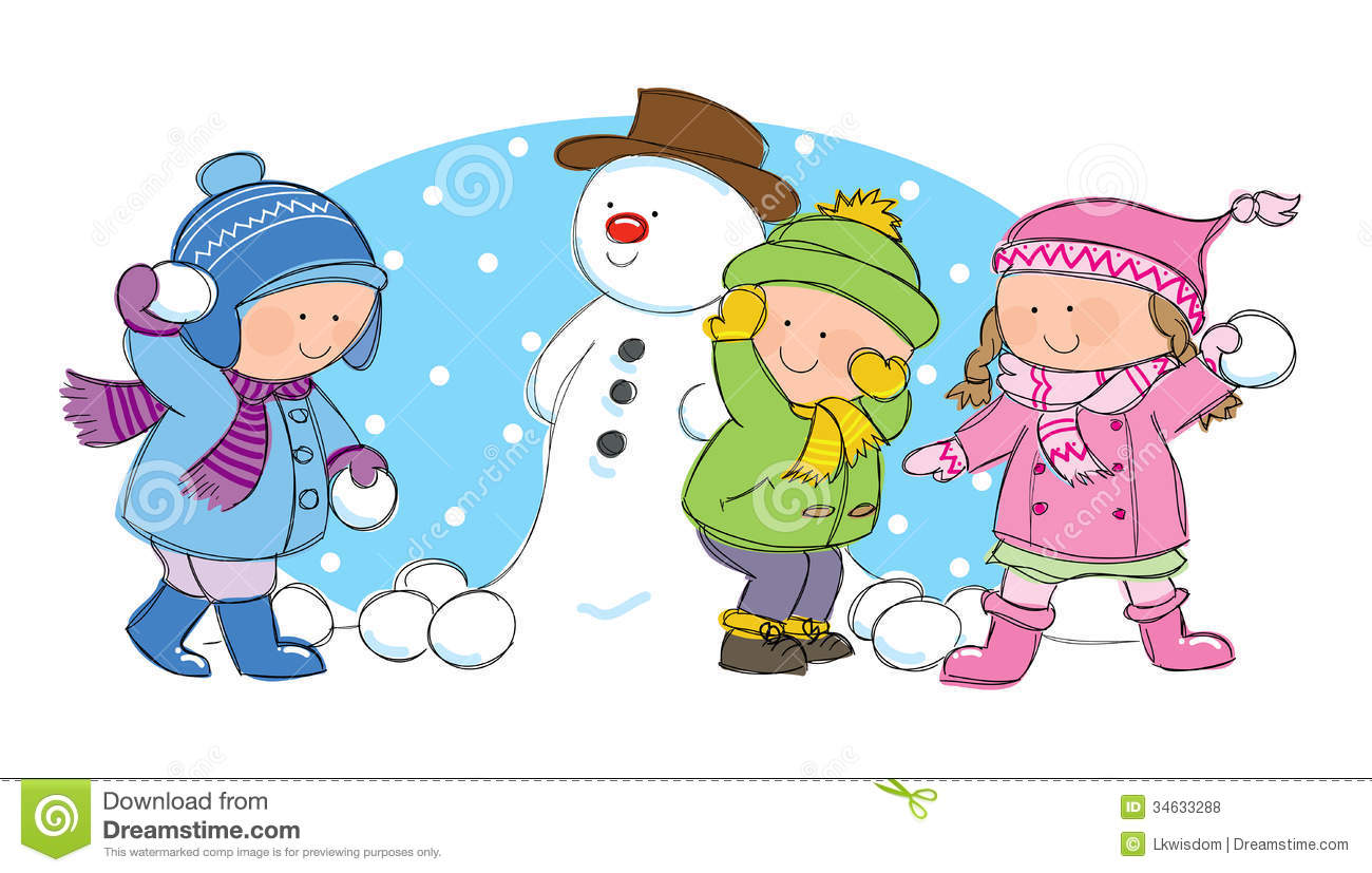 Snowball Fight Clipart Visekart Royalty Free
