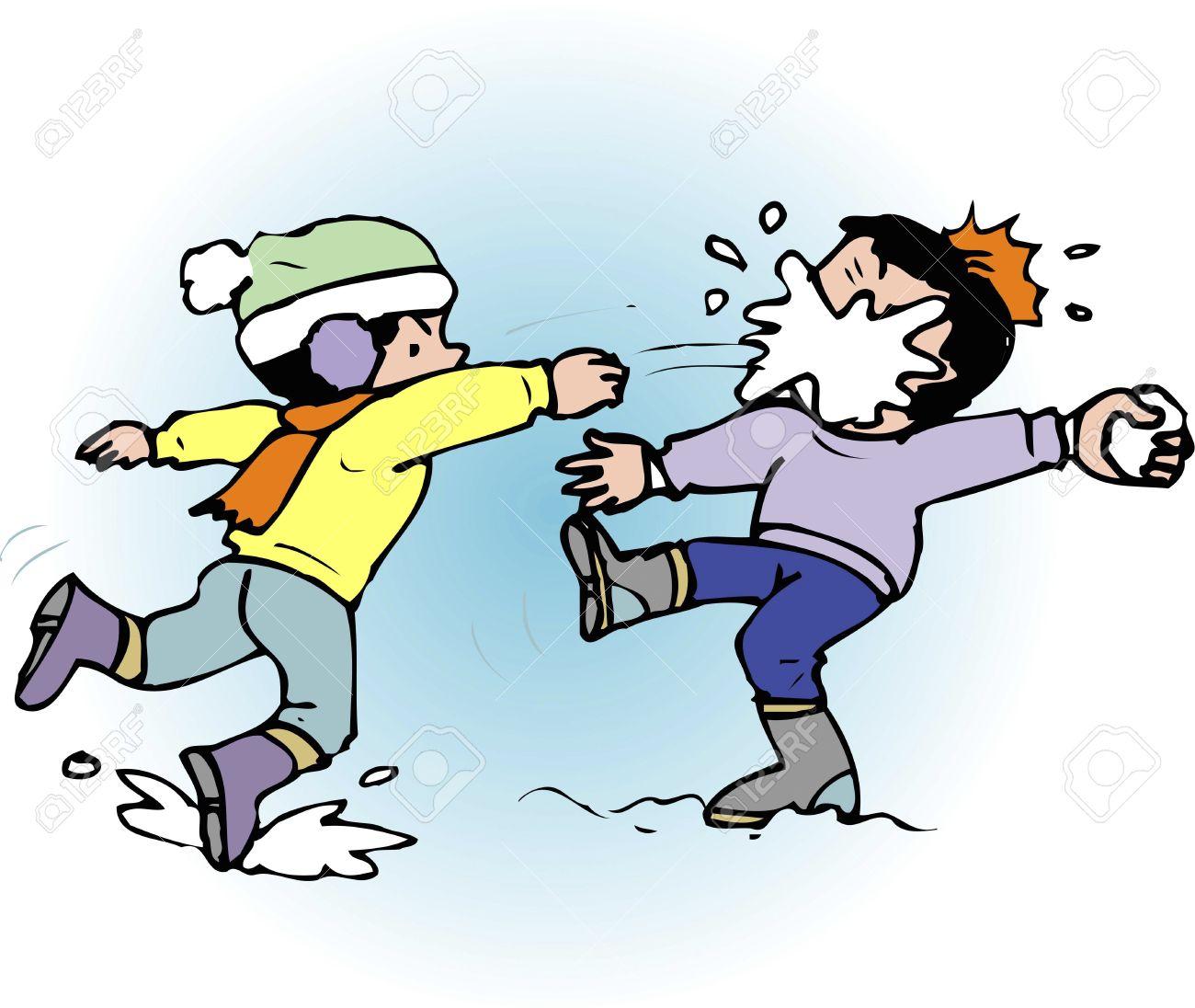 snowball fight: Snowball fight