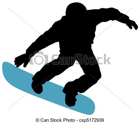... Snowboard - Abstract vector illustration of snowboard skier