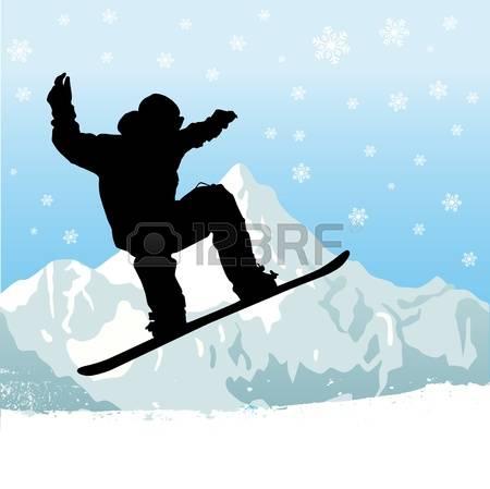 snowboarder: snowboarding