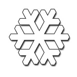 snowflake clipart outline